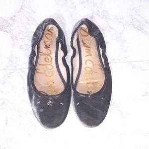 Sam Edelman | Blue Felicia Velvet Ballet Flats